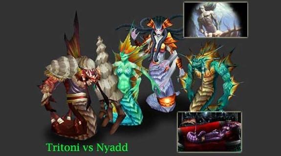 Tritoni vs Nyadd Naga e Frozen Throne