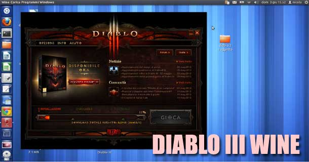 diablo 3 su wine per Linux