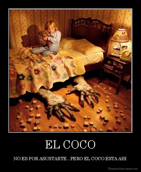 Il coco in un manifesto spagnolo