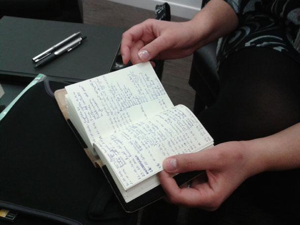 Incontro con l'autrice Nicoletta Torregrossa - Appunti per la stesura del romanzo