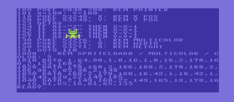 Listato SPRITE C64